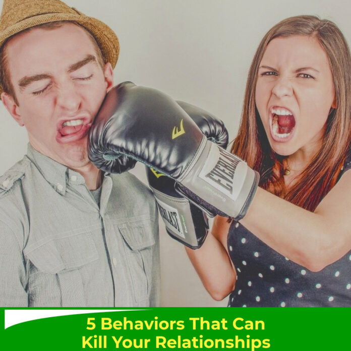 5 Behaviours That Can Kill Your Relationships